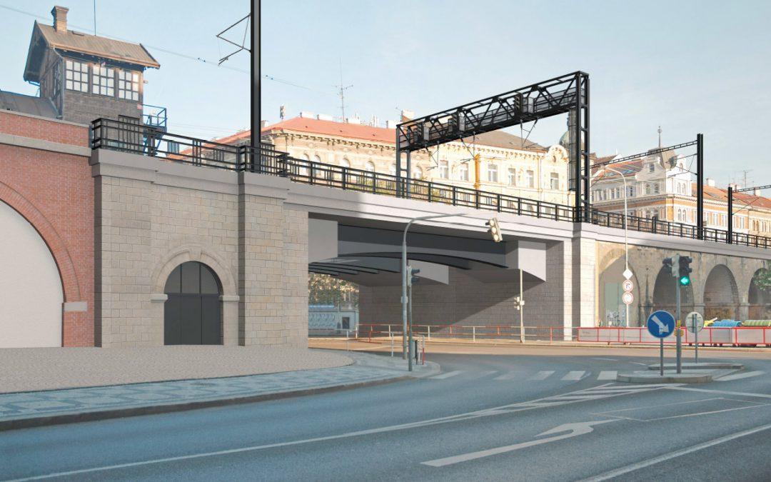 Vizualizace mostu po rekonstrukci
