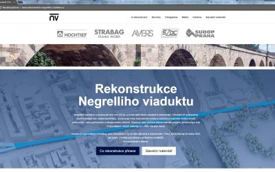 Spuštění webu o rekonstrukci Negrelliho viaduktu
