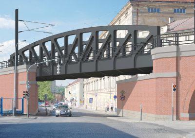 Most přes ulici Prvního pluku - nový stav