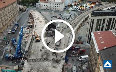 VIDEO: Ohlédnutí za demolicí mostu přes Křižíkovu